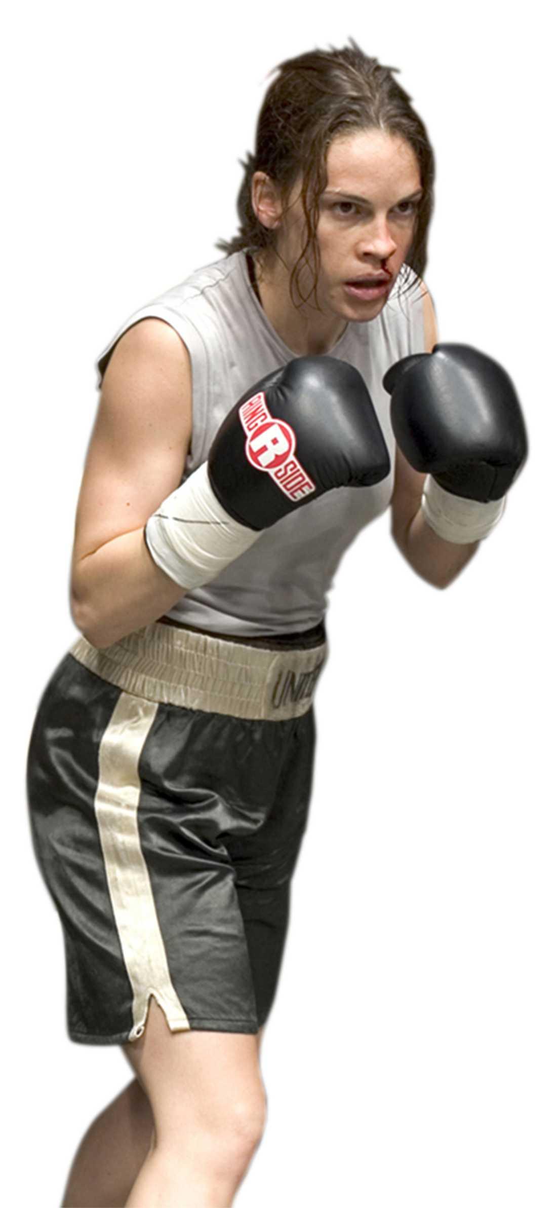 Hilary Swank genomgick ett hårt träningsprogram inför rollen som boxare.