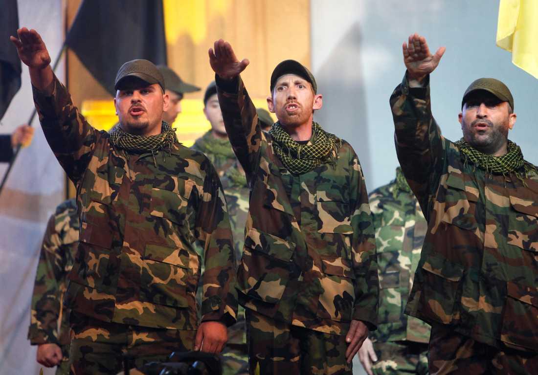 Medlemmar i Hizbollah i Beirut 2010.