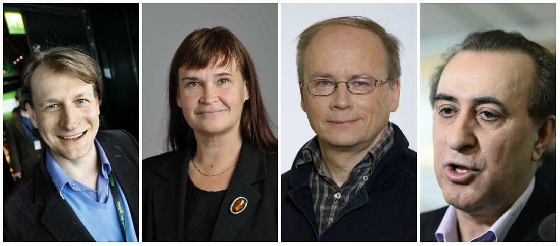 MP-ledamöterna Carl Schlyter, Annika Lillemets, Valter Mutt och Jabar Amin menar att välfärd ska berikas av idéburna aktörer, inte berika giriga företag.