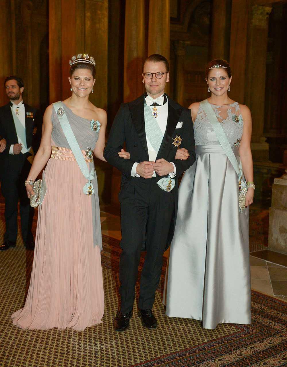 Prinsessan Victoria, prins Daniel och prinsessan Madeleine.