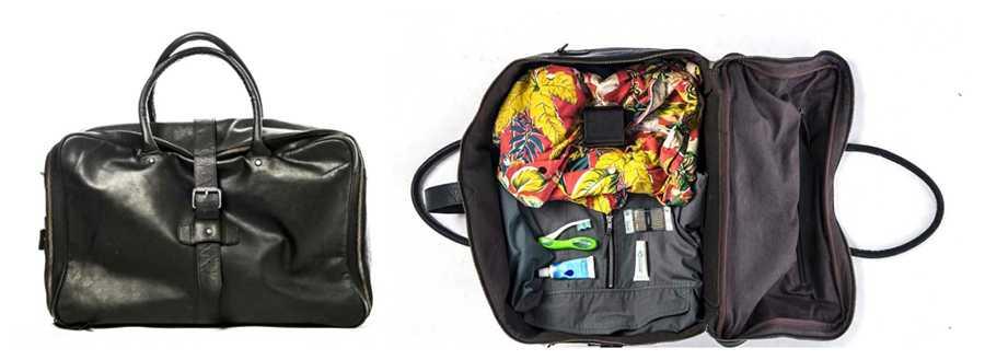 Reseredaktören Johan Gunnarsson packar alltid lätt i en mjuk resväska. Hopfällbar tandborste och reseförpackningar är ett tips.