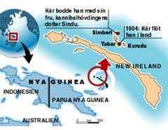 KURUDU En liten ö i närheten av Tabar heter Kurudu, som kan vara en förkortning för Pippi-böckernas Kurrekurreduttö.