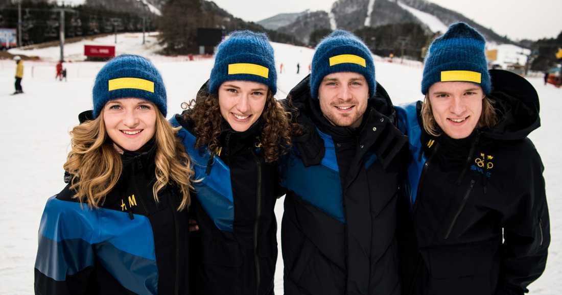 Mona Brorsson, Hanna Öberg, Jesper Nelin och Sebastian Samuelsson