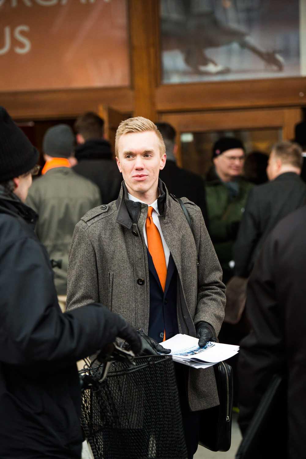 William Hahne, ny ordförande för Sverigedemokraterna Stockholm.
