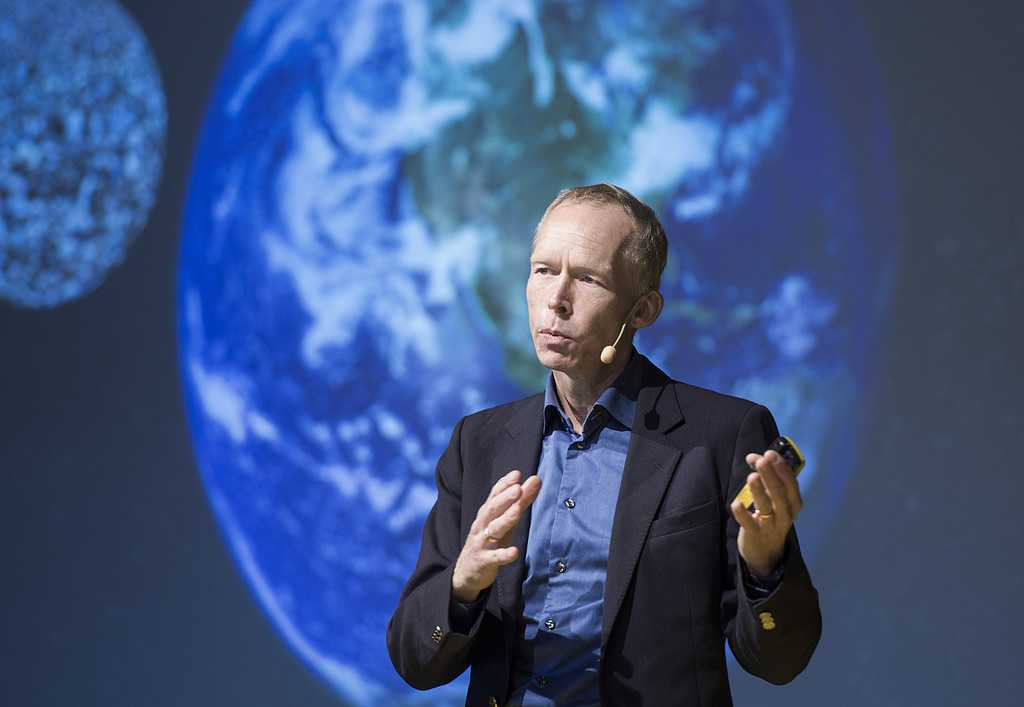Miljöprofessorn Johan Rockström under lärarkonferensen Nobel Teacher Summit 2017.