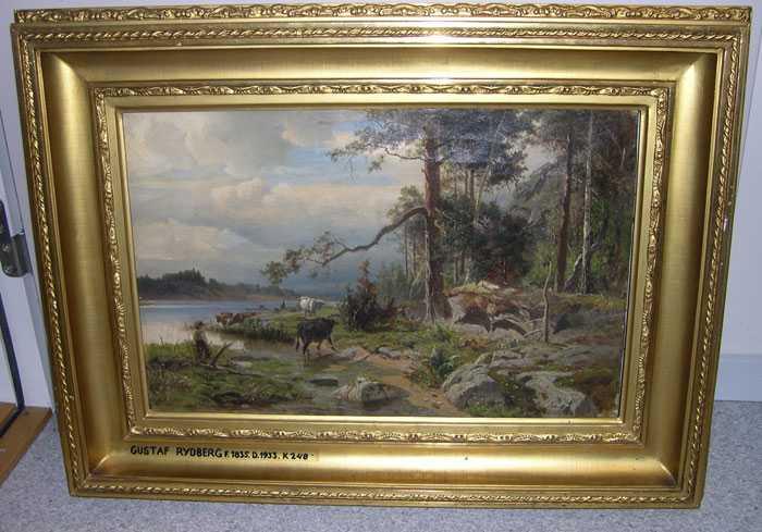 Tavlan av Ulf Rydberg (1835- 1933) stals av okända tjuvar från Malmö konstmuseum.