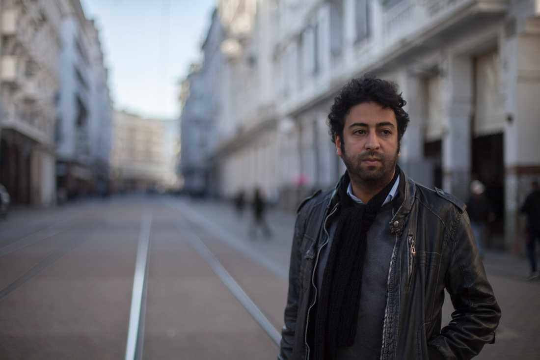 Omar Radi, marockansk journalist och aktivist, som enligt Amnesty International fått sin mobiltelefon hackad med hjälp av ett spionprogram utvecklat av ett israeliskt säkerhetsföretag. Arkivbild.