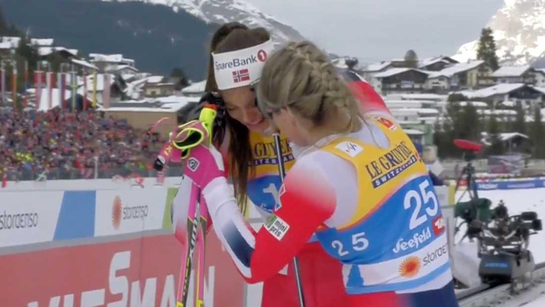Kristin Stavås Skistad  i tårar