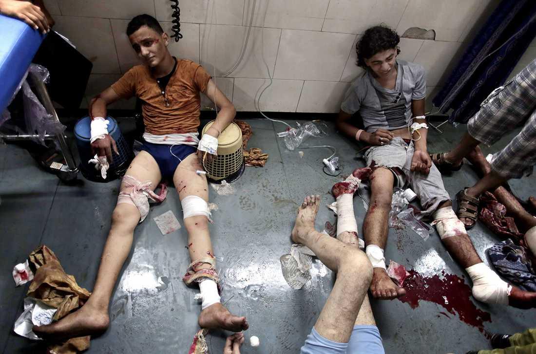 På onsdagen, under det utlysta vapenstilleståndet, attackerade Israel en marknad med många döda och skada som följd.