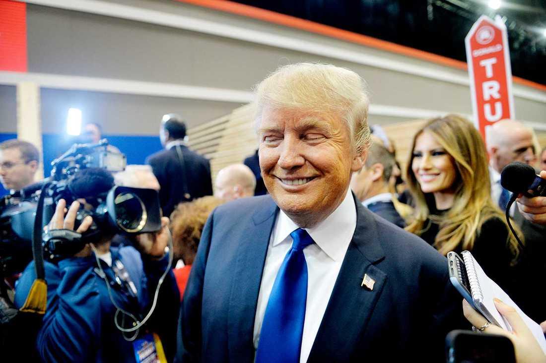 Donald Trump på St. Anselm's College Institute of Politics i Manchester.