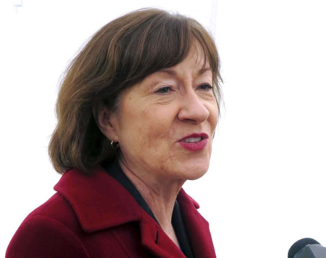 """Susan Collins, republikansk senator, kallade beslutet """"fruktansvärt oklokt"""" i en intervju med NBC News. Arkivbild."""