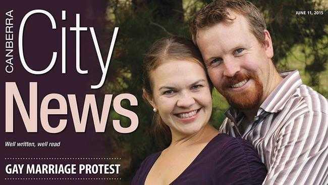 Nick och Sarah Jensen hotar att skilja sig. Foto: Canberra City News.