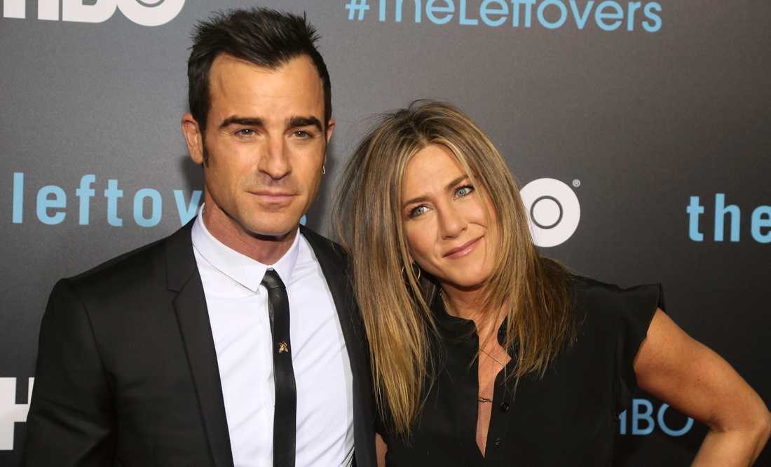 Justin Theroux och Jennifer Aniston.