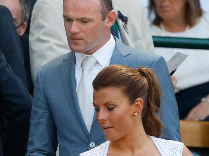 Wayne Rooney med sin fru Coleen