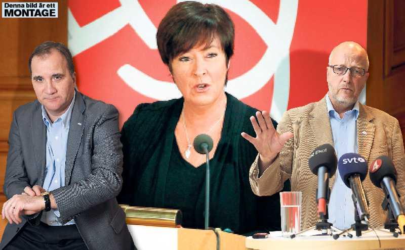 FÖRNYELSE ELLER INTE Stefan Löfven, Mona Sahlin och Sven-Erik Österberg – de socialdemokratiska ledarna står i kö för att försvara förändringarna i a-kassan. Det låter som ett eko av Anders Borg.
