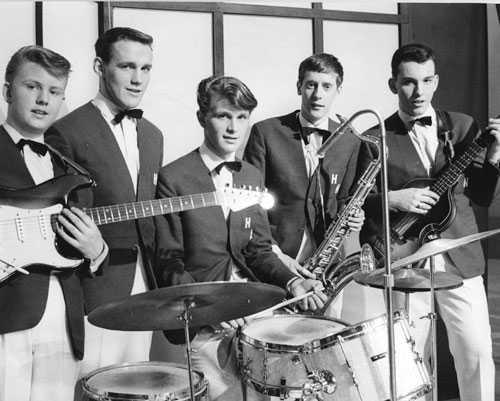 """1964 Lasse Brandeby i bandet """"The high notes""""."""