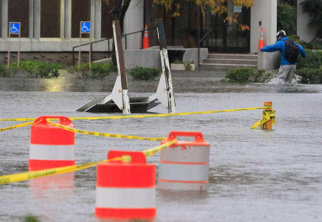 Översvämningar i Norfolk, Virginia.