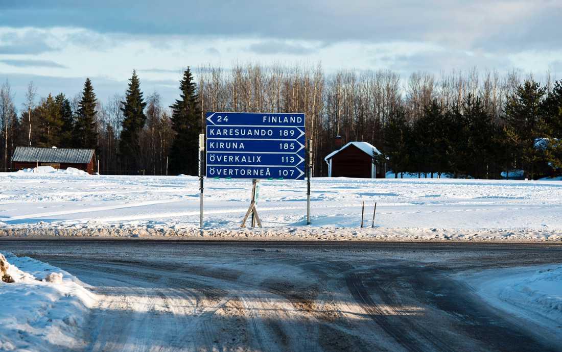 Några av kommunerna som ingår i förslaget är Pajala och Övertorneå.