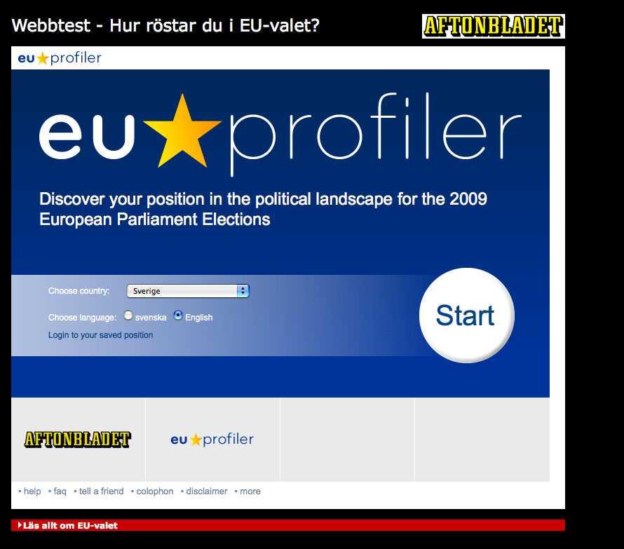 Kolla vilket parti du borde rösta på i EU-valet med Aftonbladets unika test.