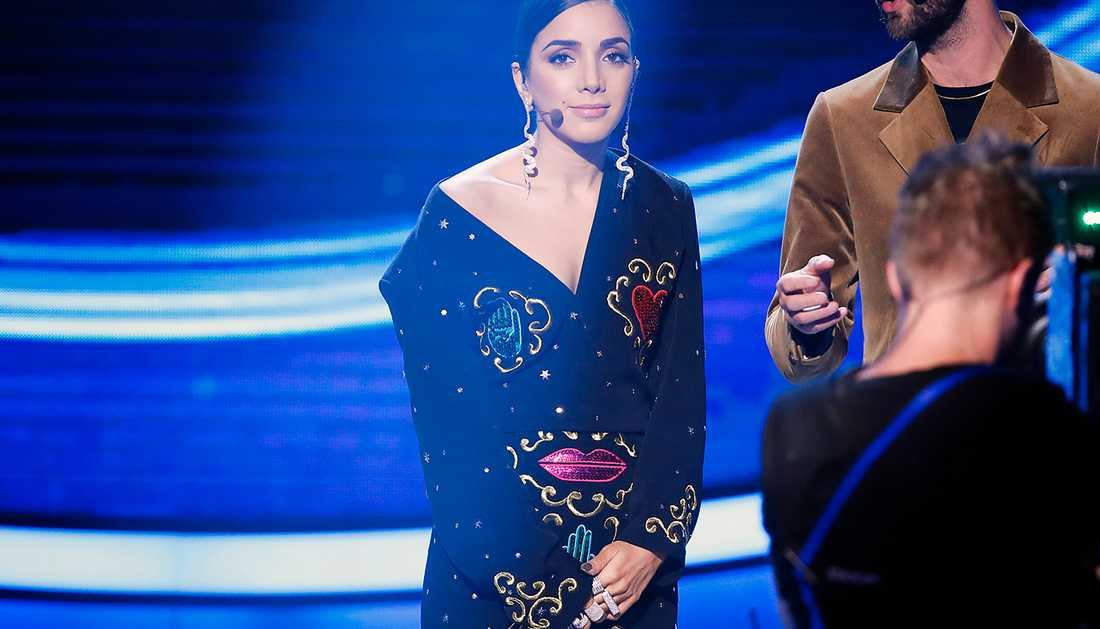 Gina Dirawis outfit den 20 oktober.