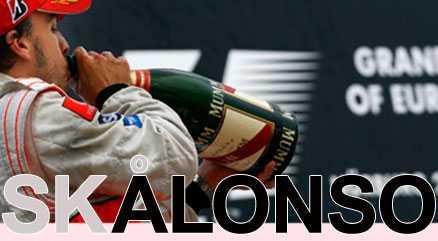 Fernando Alonso firar segern.