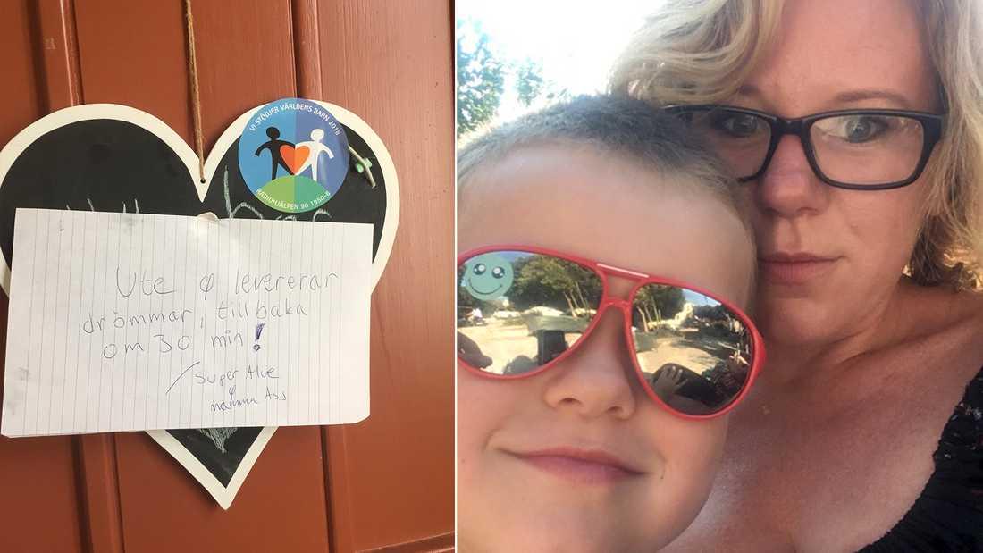 Alve och mamma Astrid bakade drömmar för Världens barn första gången förra året.