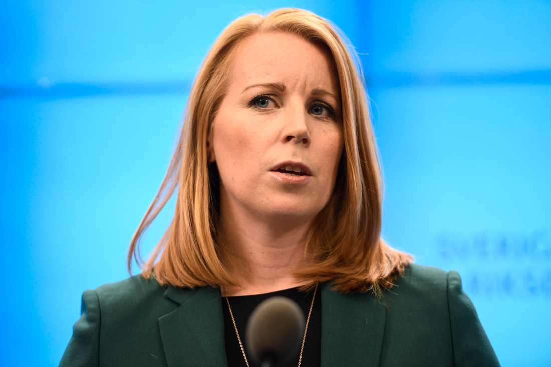 Vågar Centerpartiets partiledare Annie Lööf ingå i en S-regering? Arkivbild.