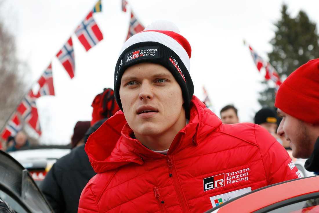 Han är regerande världsmästare. Men efter den spektakulära kraschen i Monte Carlo-rallyt i januari ligger han sist i mästerskapet. För estländaren Ott Tänak är Rally Sweden vinna eller försvinna. Arkivbild.