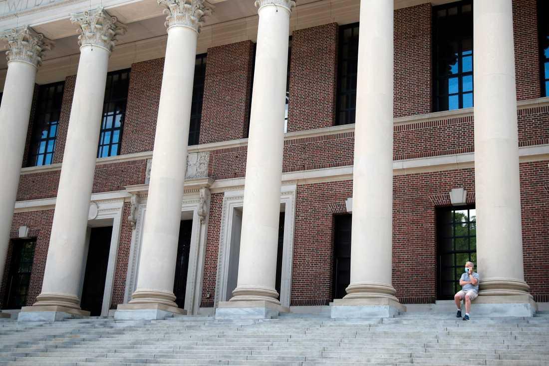 Harvard-universitetet i USA uppger att höstens undervisning kommer att ske på distans. Arkivbild.