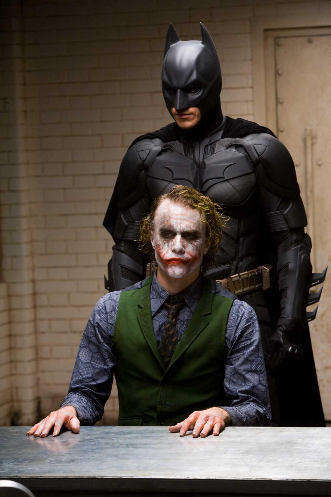 """Heath Ledger som Jokern i """"The dark knight""""."""