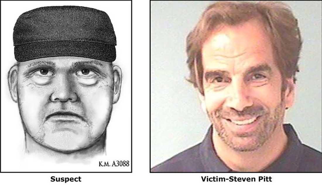 Steven Pitt, till höger, bredvid den misstänkte gärningsmannen.