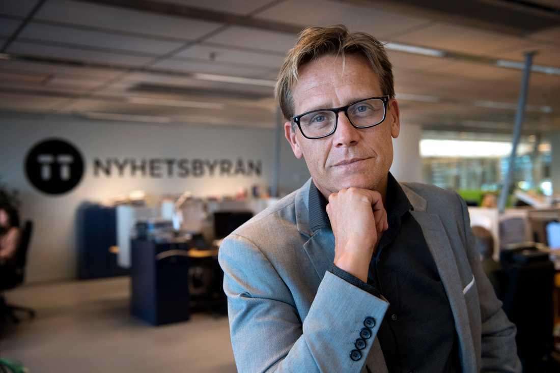 Jonas Eriksson, TT:s vd och chefredaktör.