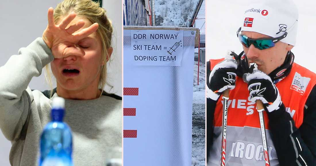Finn Hågen Krogh var en av de norska åkare som möttes av skylten.