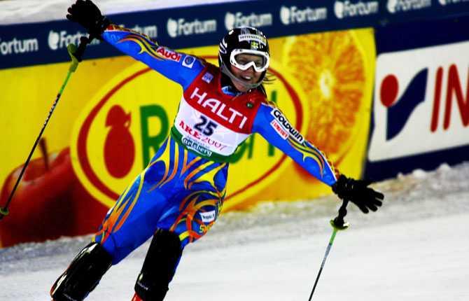 Åre(t)s andra VM-guld Anja jublar när guldet i superkombinationen är klart.