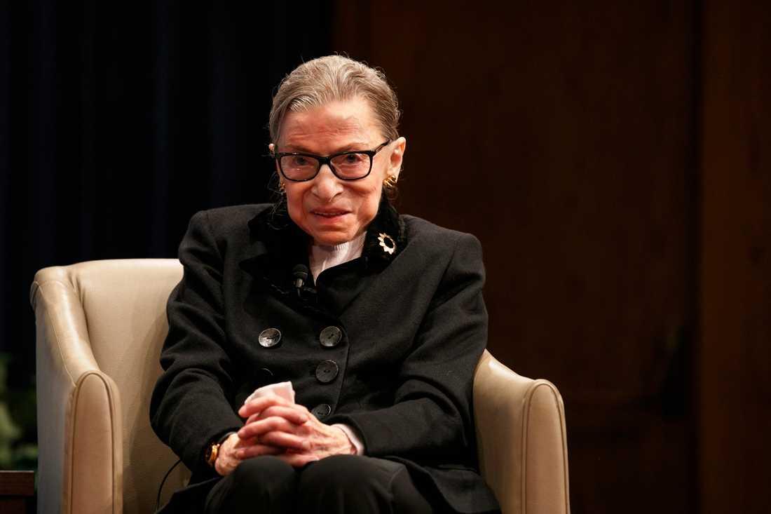 Ruth Bader Ginsburgs cancerbehandling har varit framgångsrik, säger hon i en intervju med CNN. Arkivbild.