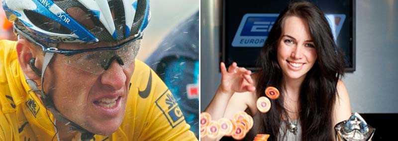 Pokerstjärnan har använt sin förmåga till att avslöja Lance Armstrong.
