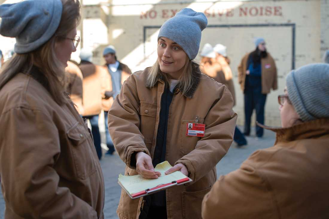"Piper (Taylor Schilling) i ""Orange is the new black""."