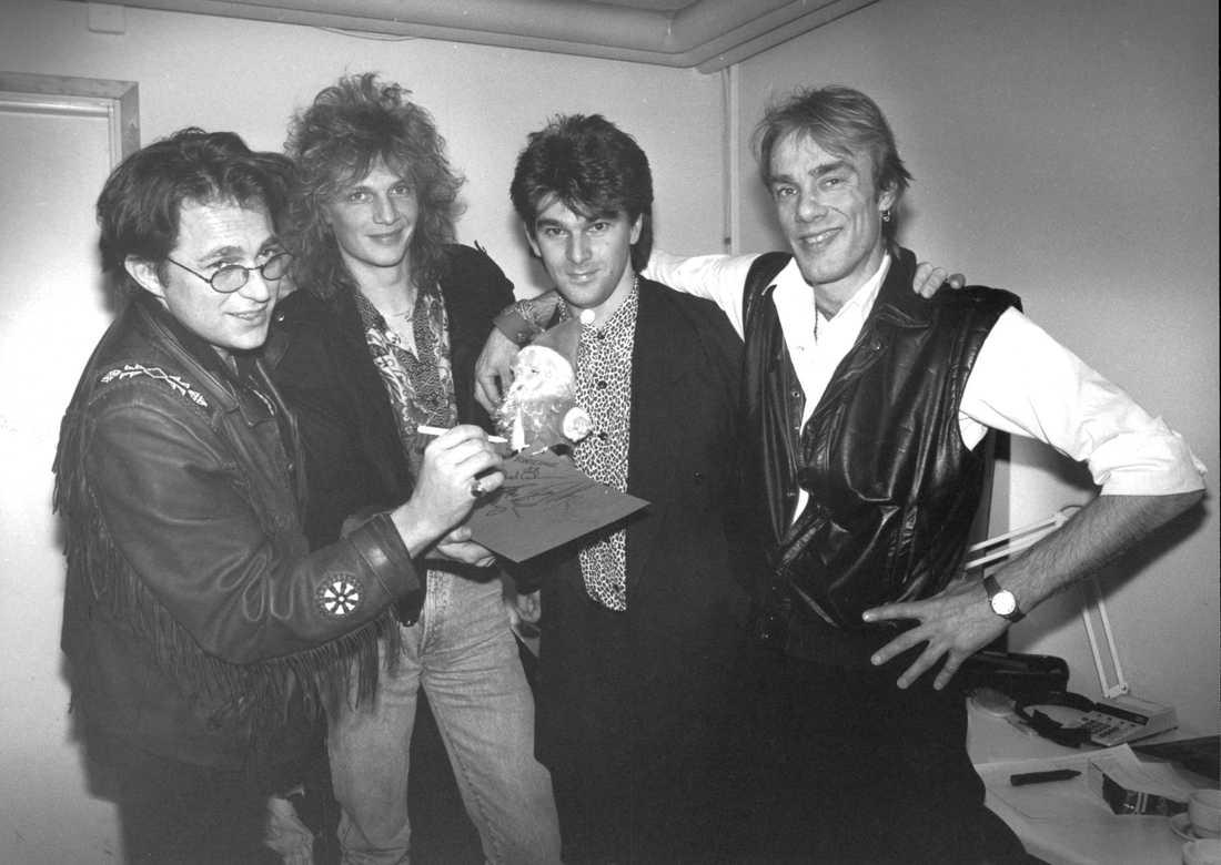 Mikael Rickfors, Tommy Nilsson, Niklas Strömstedt och Magnus Lindberg.