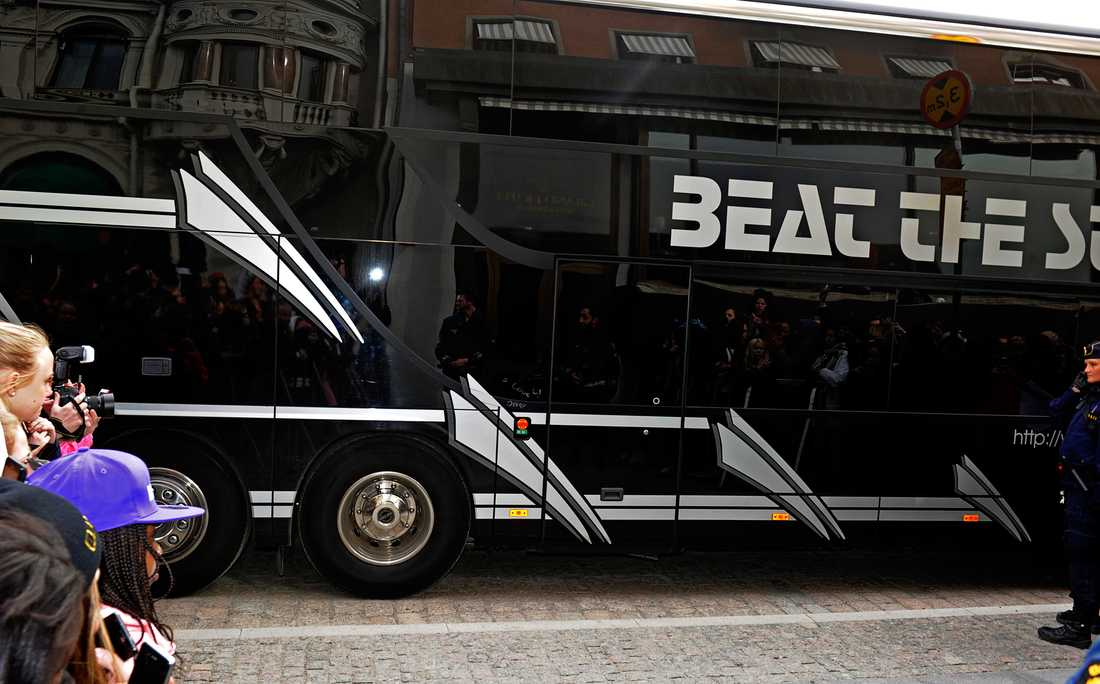 Biebers turnébuss.
