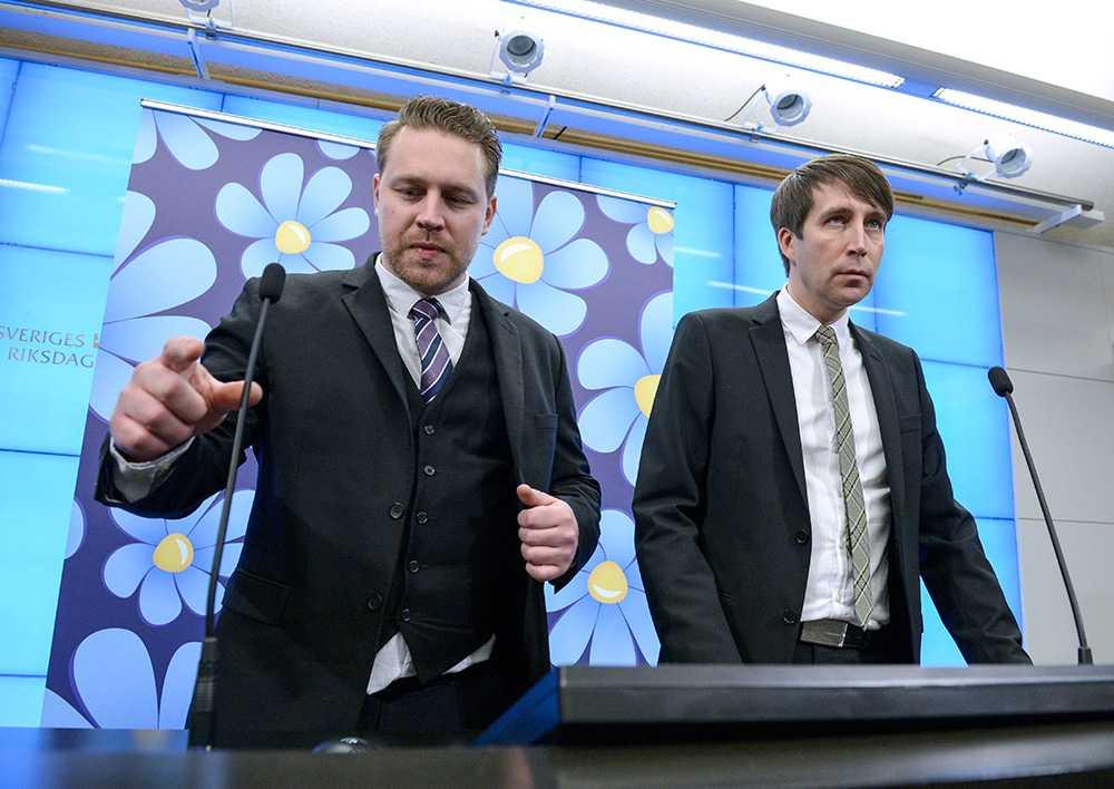 Mattias Karlsson och Richard Jomshof, Sverigedemokraterna.