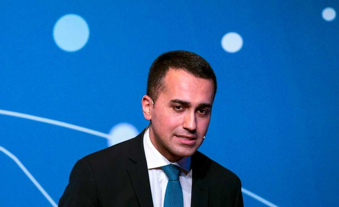 Italiens vice premiärminister och koalitionsledare Luigi Di Maio. Arkivbild.