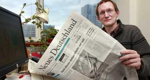 ÖVRELEVARE Chefredaktören Wolfgang Hübner har arbetat på Neues Deutchland sedan 1985.