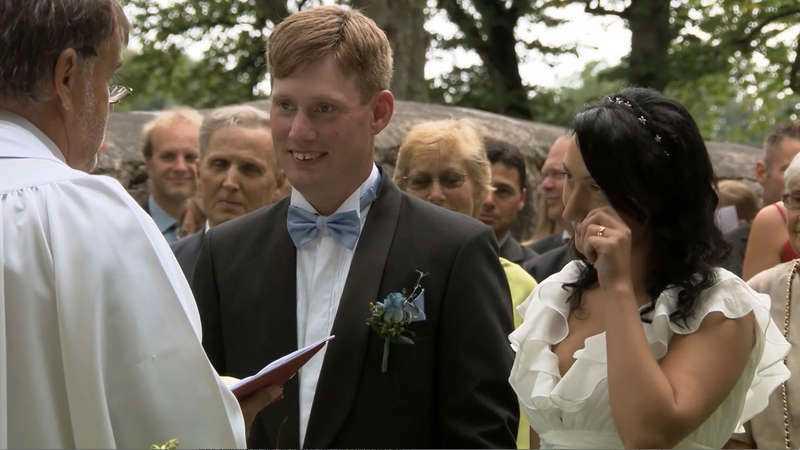 En tår tittade fram under ceremonin.