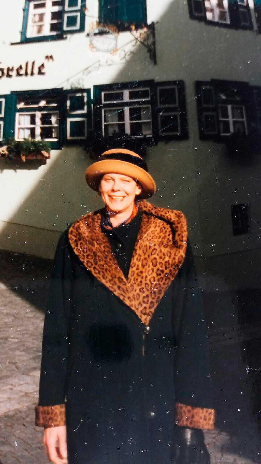 Före konvertionen. Affärskvinnan Christina Hennig i sitt gamla liv, på resa i Ulm i Tyskland 1996.
