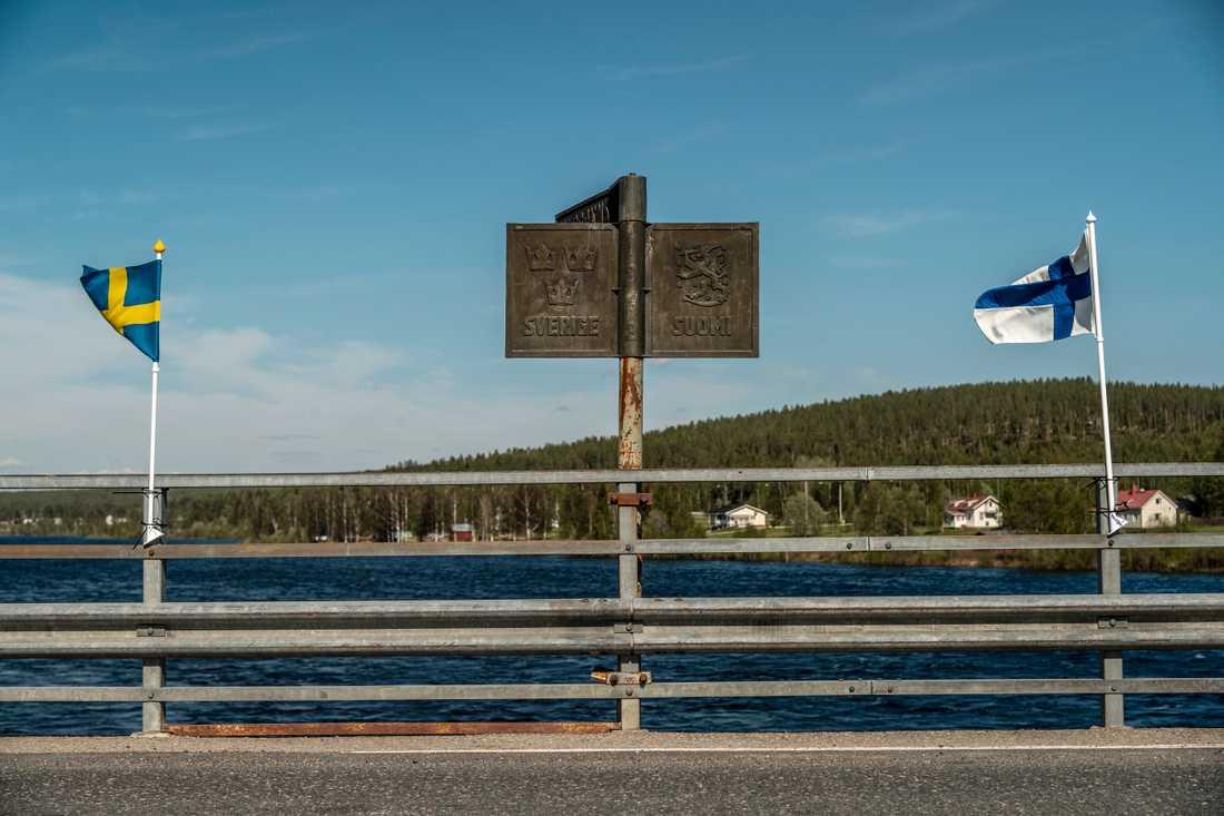 Pajala, gränsen mot Finland.