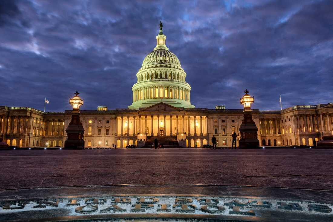 Den amerikanska kongressens säte Capitolium i Washington DC.