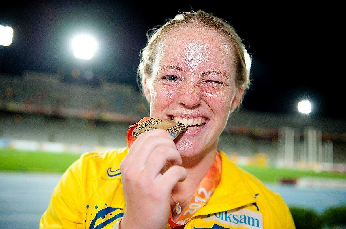 Sofi Flinck efter guldet.