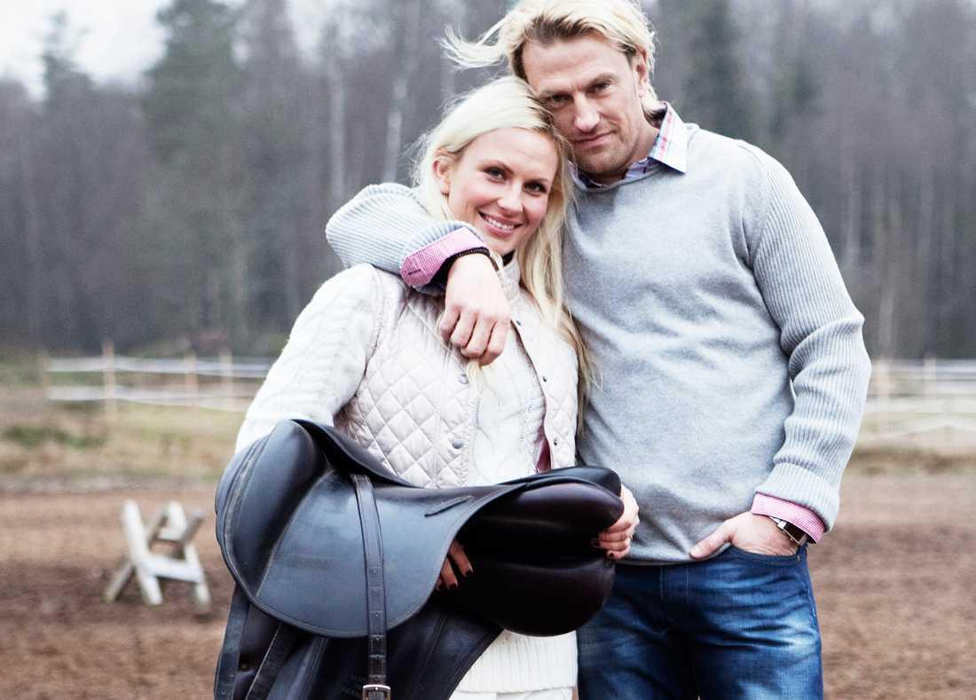 """Louise Löfgren och Pär-Ola Nyström hittade varandra i TV4:s """"Bonde söker fru""""."""