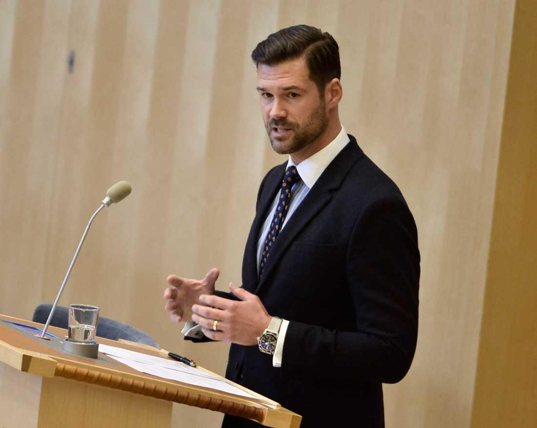 Johan Forssell (M), Migrationspolitisk talesperson.