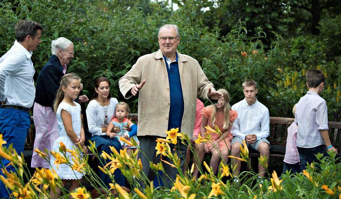 Prins Henrik med barn och barnabarn. Arkiv 2015.